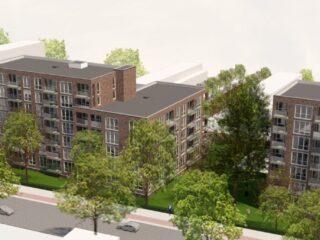 Start bouw drie appartementenblokken aan de Dedemsvaartweg in Den Haag